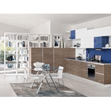 Popular for Canada market modern wood veneer kitchen cabinet design