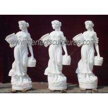 Esculpida em mármore estátua de pedra carving mobiliário de jardim escultura para decoração (sy-x1079)