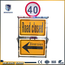 double side outdoor traffic safety light warning board
