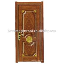 Alta calidad Popular HDF Melamina moldeada Diseño de la puerta interior