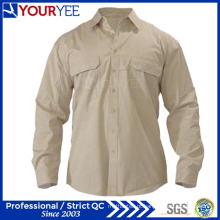 Camisas longas feitas sob encomenda do trabalho da luva camisa unisex (YWS110)