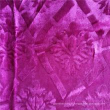 Tissu de vêtement africain de velours de mode tricoté 100% polyester