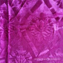 Fashion Velvet African Garment Fabric Knitted 100% Polyester