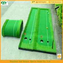 Nuevo diseño, barato, pasto artificial usado golf putter mat / putting mats
