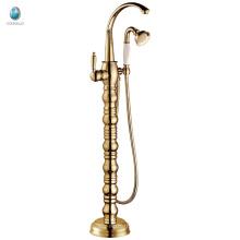 KFT-04J new product chrome single lever brass floor standing bathtub faucet, upc tub shower faucet