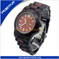 Reloj de pulsera de madera impermeable vendedor caliente de las señoras reloj con alta calidad