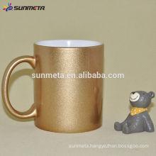 Sunmeta factory supply good quality coated sublimation gold mug golden mug