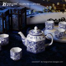 Chinesische Tee Geschenkbox Chinesische Stil Porzellan Tee Set blau und weiß Porzellan