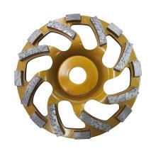 150mm PRO. Roda copo de moedura de diamante para concreto turbo