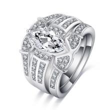 Vintage Engagement Rings Women Wedding Ring Set (CRI0490)