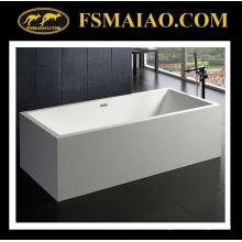 Superficie sólida de la bañera independiente del rectángulo del tamaño grande (BS-8614)