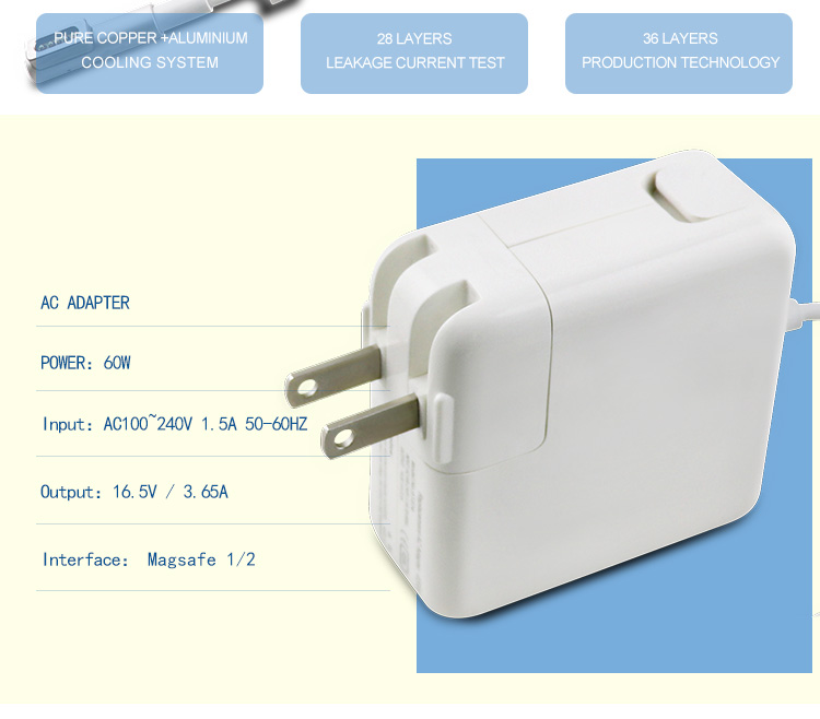 65w t/l connector laptop charger for macbook