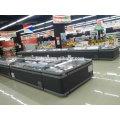 Congelador de display de supermercado com degelo automático combinado