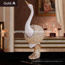 New Arrival decorative resin animal statue swan lovers figurines modern style resin animal statue