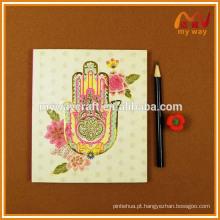 Hot selling flor softcover A5 notebook bonito capa design bloco de notas