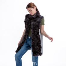 Abrigo de piel de moda abrigo