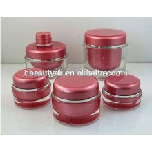5ml 10ml Round acrylic jar mini sample jar empty plastic jar 5g 10g