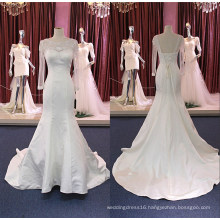 Long Sleeve Satin Mermaid Bridal Wedding Dress Wgf184