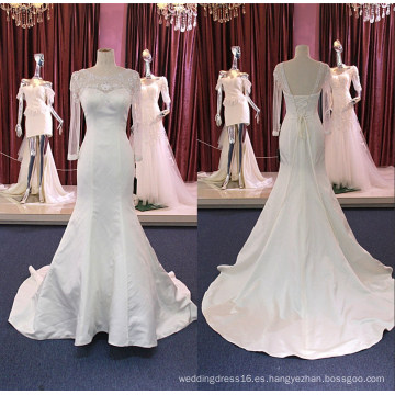 Vestido de novia nupcial de sirena de manga larga Wgf184
