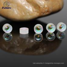 Lentille de doublet achromatique verre optique AR revêtue haute précision