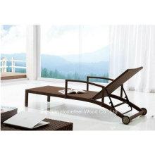 Alumínio Alumínio Outdoor Rattan Beach Lounge Leisure Chair