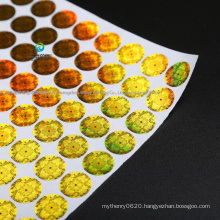 Manufacture High Quality Paper Hologram Printing Adhesive Sticker / Label