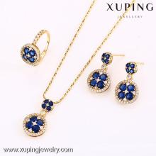 62636-Xuping Elegant Wedding Crystal Jewelry Conjunto de lujo clásico