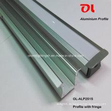LED-Einbau-Aluminiumprofil mit Fransen für LED-Streifen (ALP2515)