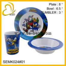 Kids Preferred 3 Piece Sonic Lost World Melamine Mealtime Set