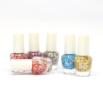 Op basis van water Toxic-vrij Winter Color Snowflake Glitter Nagellak