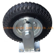 Pneumatische Gummi Caster Rad FC80 behoben