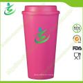 16 Oz Top Flat BPA-Free Coffee Cup with Custom Logo