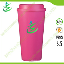 16 Oz Top Flat BPA-Free Kaffeetasse mit benutzerdefiniertem Logo
