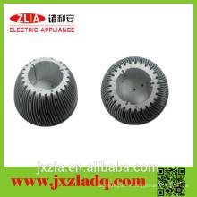 Radiateur de précision à la CNC anodisé personnalisé, radiateur à aluminium rond