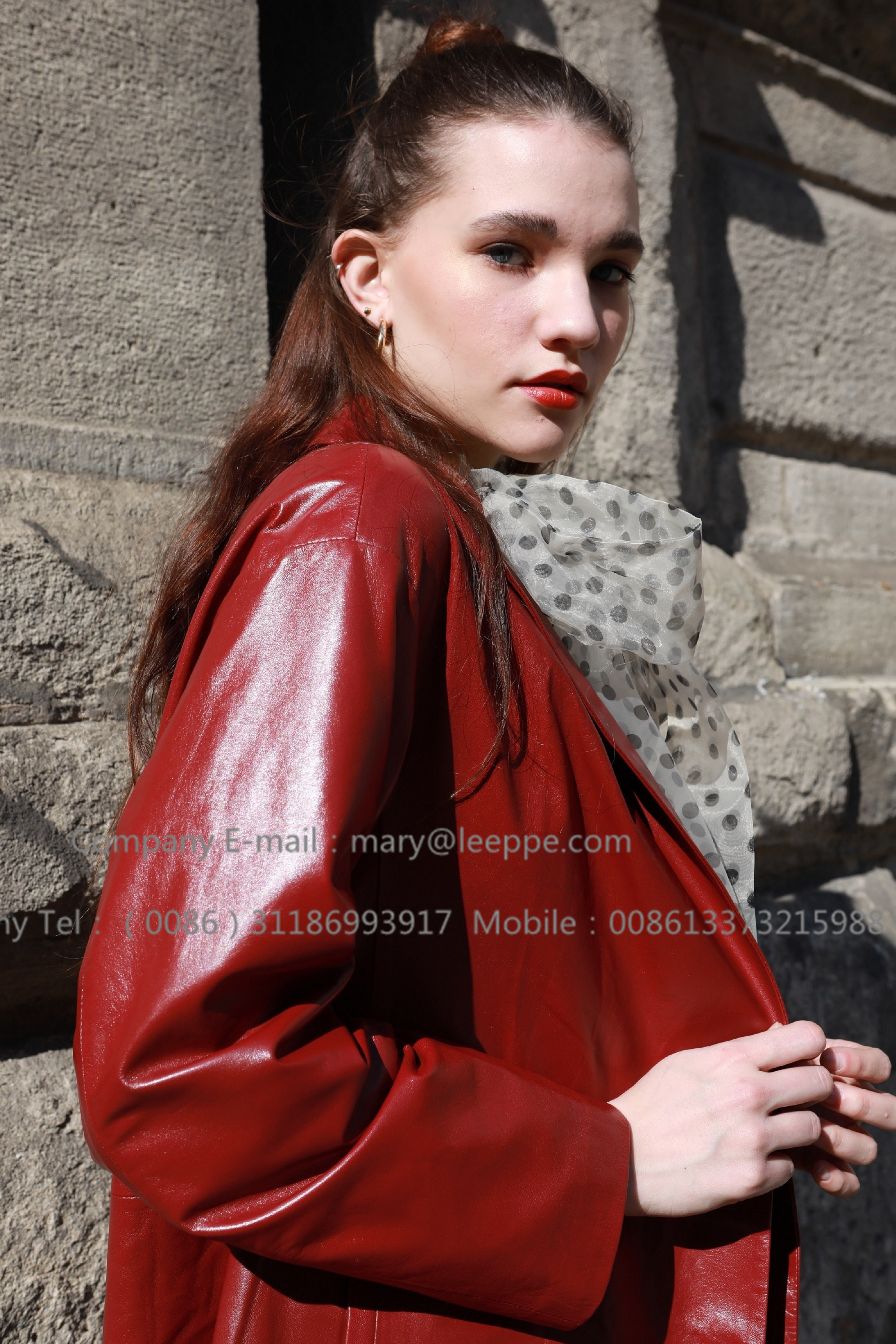 Red Leather Coat (4)
