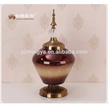 Fashionable glass flower vase beautiful glass flower ornament holder cheap home decor