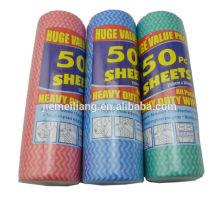 50PK Factory Spunlace Nonwoven Wiping Cloth Toallero no tejido desechable para la limpieza del hogar