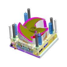 Moule automatique en plastique pour des pièces d'auto, production automatique