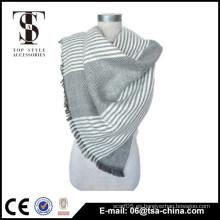 Bufanda trenzada de acrílico tejida del mantón de la franja del estilo 2014 de la manera