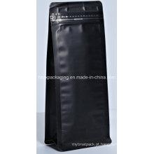 O alumínio plástico levanta-se o saco de empacotamento do alimento do café com zíper