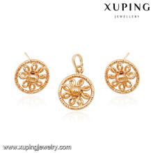 64039 Xuping fashion dubai 18k gold rani haar alibaba jewelry set