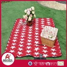 Alta qualidade estilo pasta ao ar livre cobertor de piquenique polar impermeável do velo