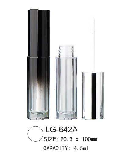 Empty round lipgloss packaging