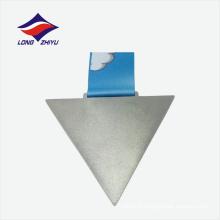 Nouveau style professionnel triangle forme médaille d'argent personnalisée