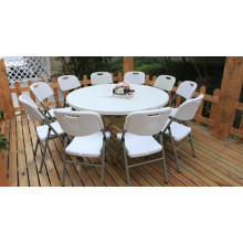High Quality 1.8m HDPE White Plastic Folding Round Catering Table for 10 Seats