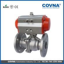 Пневматический / автоматический фланцевый шаровой клапан (двухсекционный), пневматический шаровой клапан