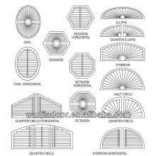 Volets intérieurs en PVC à décor octogone réglable