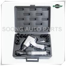 Kit de llave de trinquete y impacto de aire, kit de herramientas neumáticas, herramienta de mano para llave
