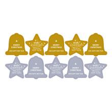 Weihnachtspapier-Druckstern-Bell-Goldkleber-Aufkleber