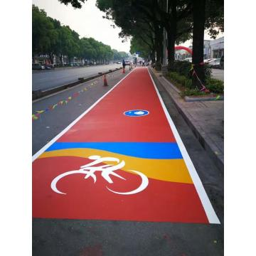 Bike Lane Colorful Resin Road